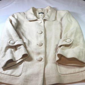 J Crew factory women's jacket size 8 cotton linen